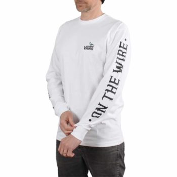 Vans x Anti Hero On The Wire L/S T-Shirt - White