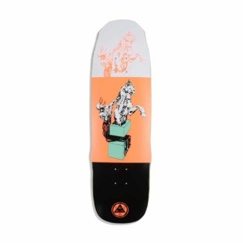 "Welcome Hierophant On Necromancer 9.125"" Skateboard Deck - White / Orange"