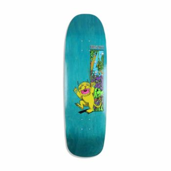 "Welcome Lotti Wild Thing On Golem 9.25"" Skateboard Deck - Neon Yellow"