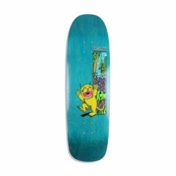 "Welcome Lotti Wild Thing On Golem 9.25"" Skateboard Deck - Neon Yellow"