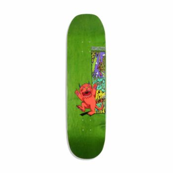"""Welcome Lotti Wild Thing On Moontrimmer 8.5"""" Skateboard Deck - Neon Coral"""