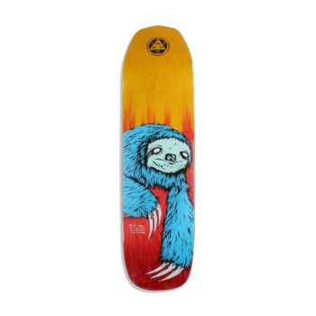 "Welcome Sloth On Vimana 8.25"" Skateboard Deck - Blue / Fire"