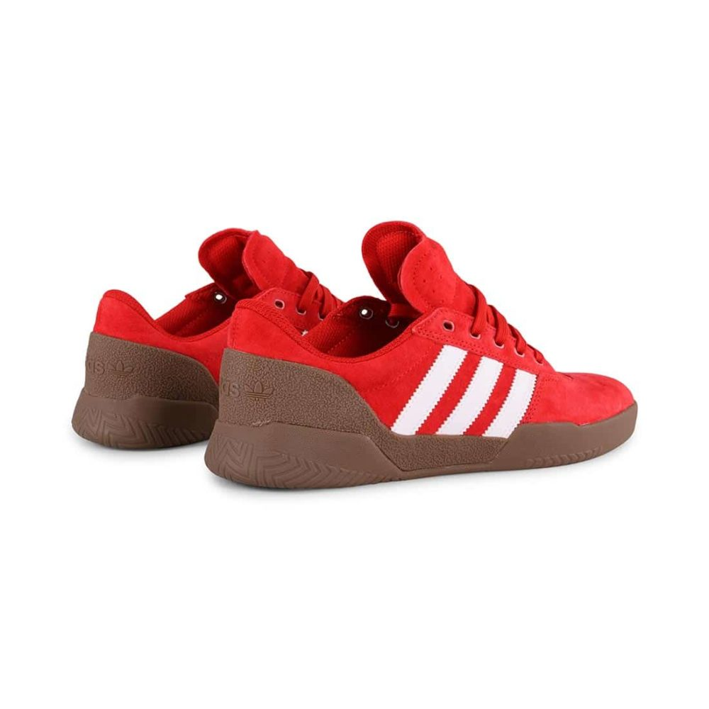 Adidas City Cup Shoes - Scarlet / White / Gum