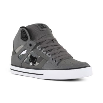 in stock cbc41 721c4 DC Shoes Pure High Top WC SP - Gun Metal   White