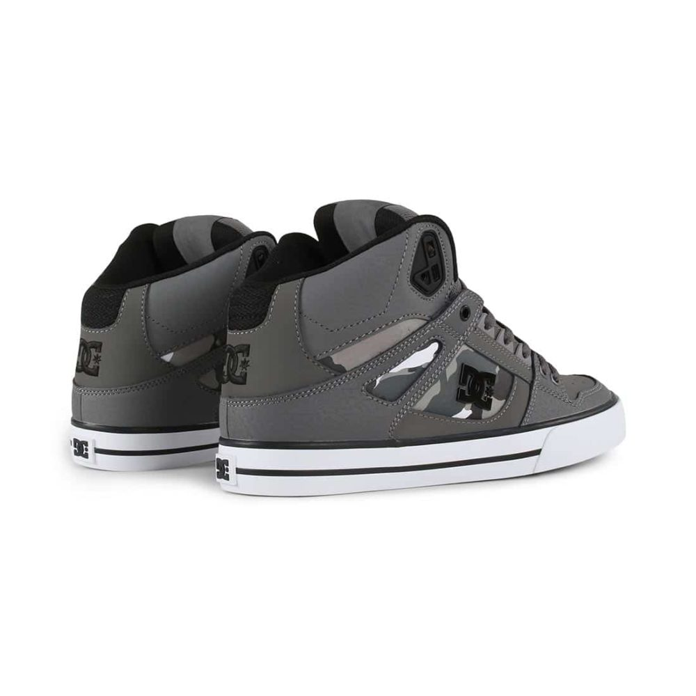 DC Shoes Pure High Top WC SP - Gun Metal / White