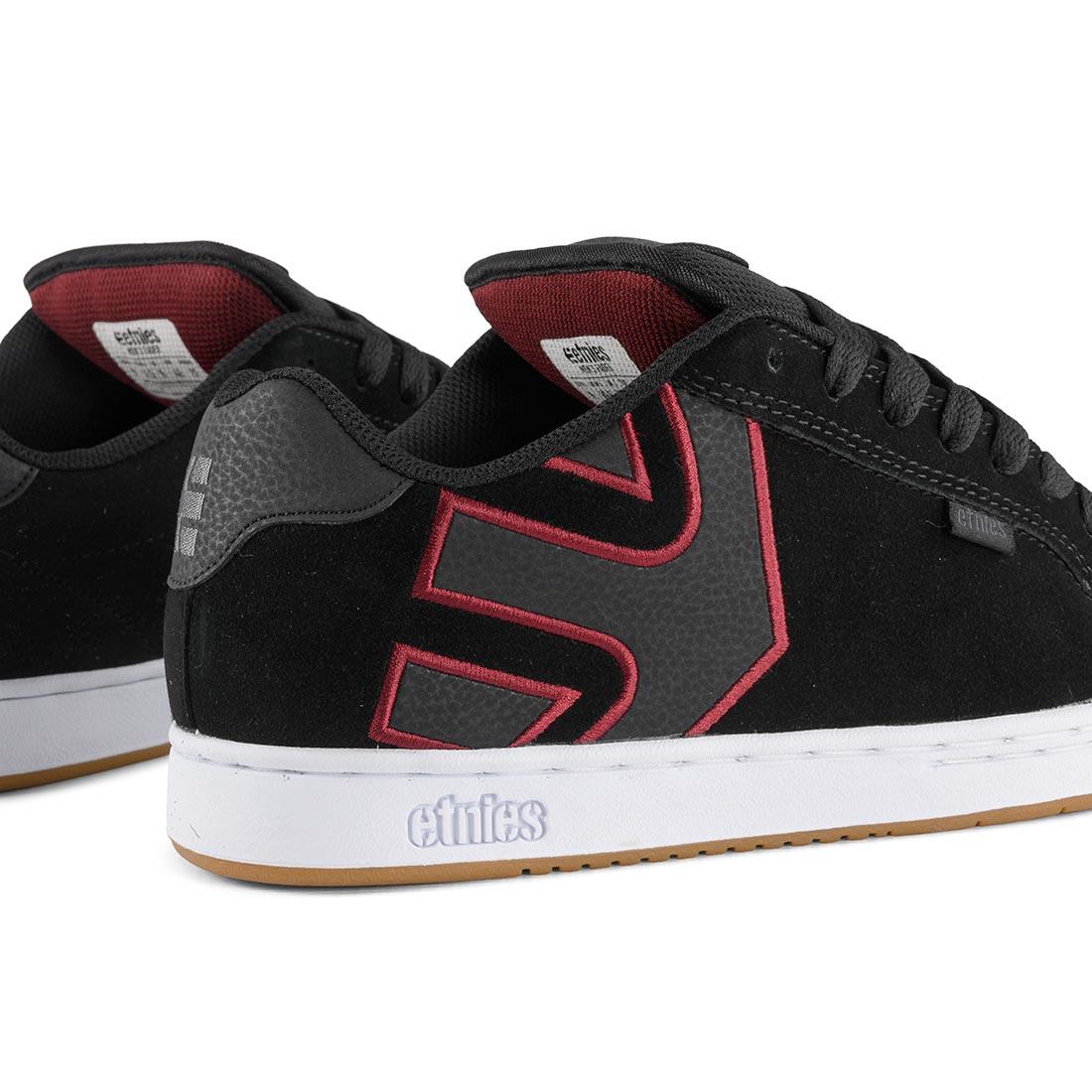 Etnies Fader Shoes – Black / White / Burgundy