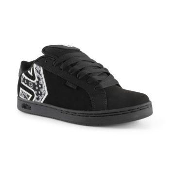 Etnies Metal Mulisha Fader Shoes – Black / White / Black