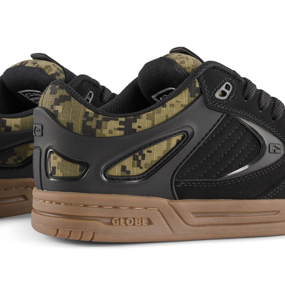 Globe Agent Shoes – Black / Black / Camo