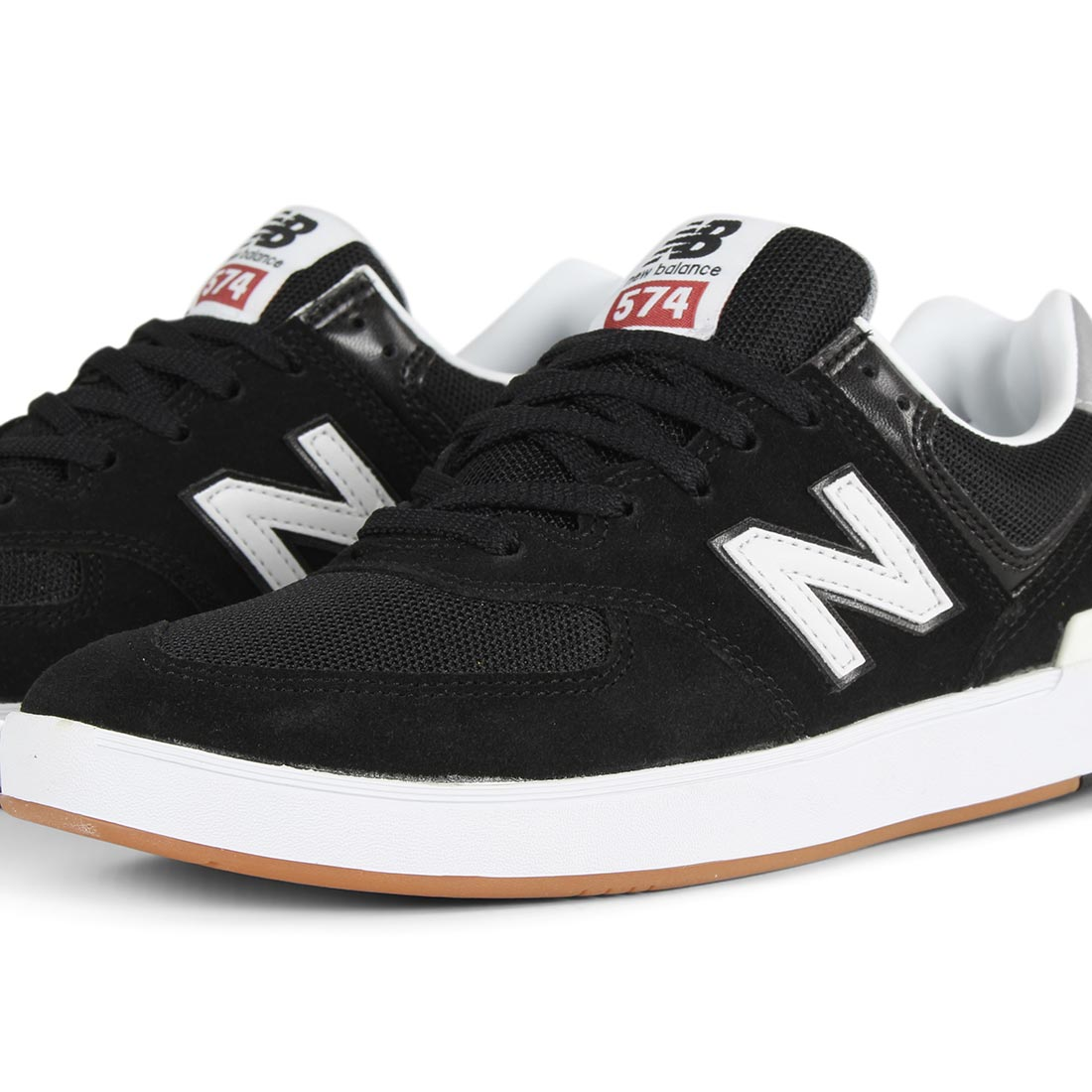 New Balance All Coasts 574 Shoes - Black / Grey