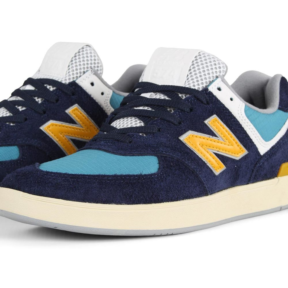 New Balance All Coasts 574 Shoes - Navy / Sunflower