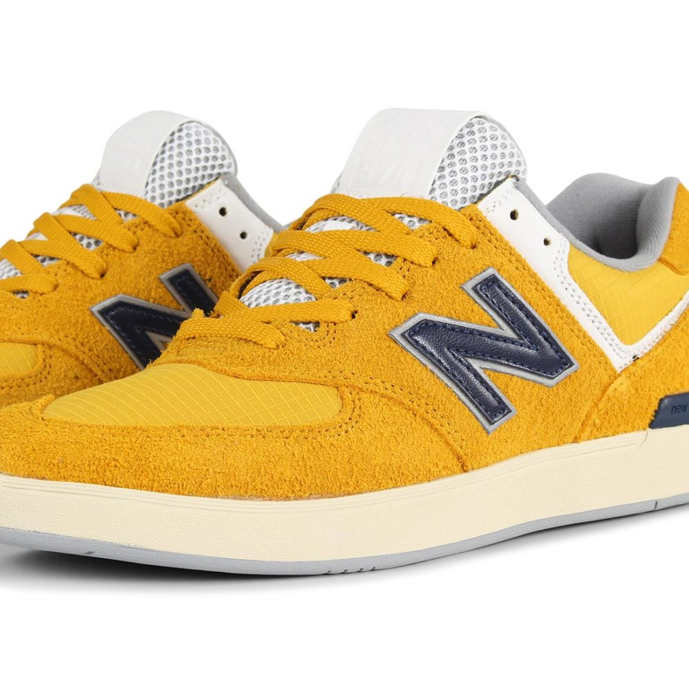 New Balance All Coasts 574 Shoes - Sunflower / Navy