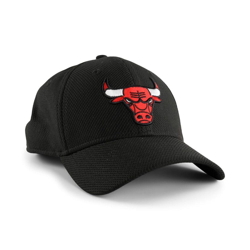 New Era Chicago Bulls Diamond Era 39Thirty Cap – Black