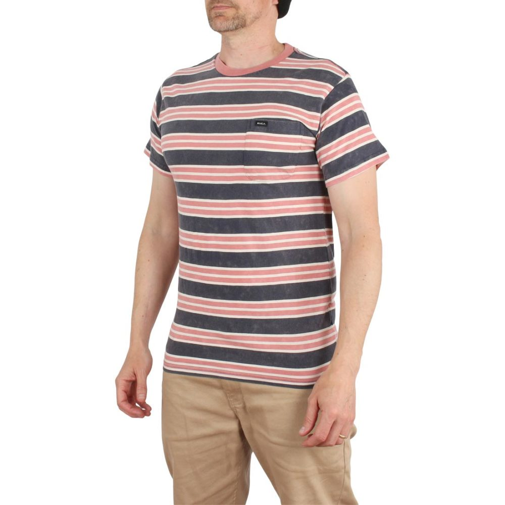 RVCA Lucas Stripe Knit S/S T-Shirt – Federal Blue