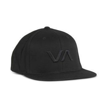 RVCA VA Snapback II Cap - Black / Black