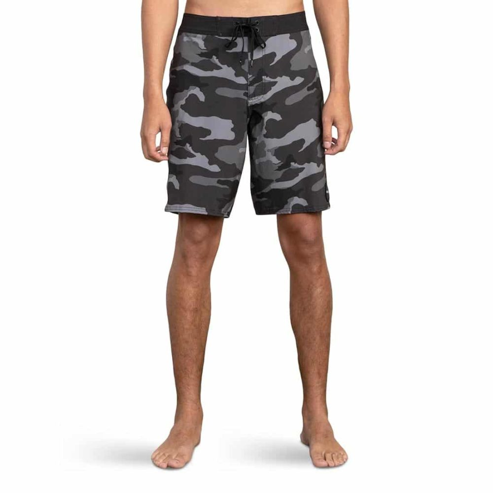 """RVCA VA Trunk Print 19"""" Boardshort - Charcoal Black"""