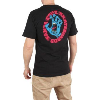 Santa Cruz Scream S/S T-Shirt - Black