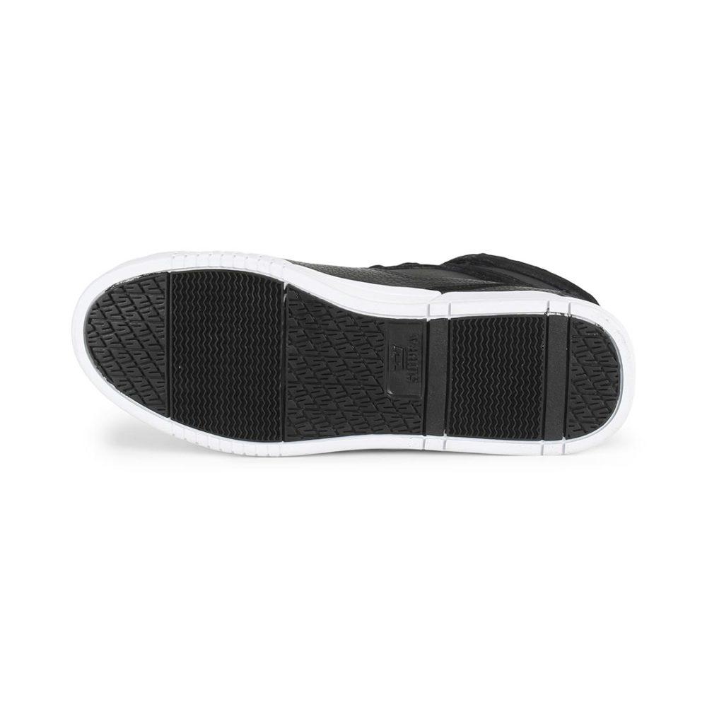 Supra Breaker High Top Shoes - Black / Silver / White