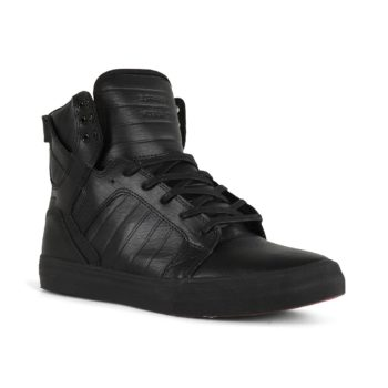 Supra Skytop Shoes – Black / Black / Red