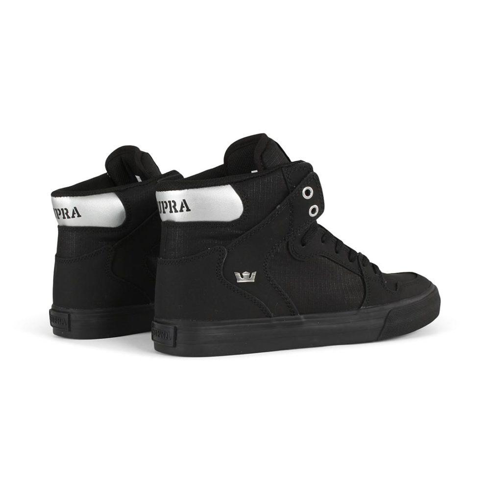 Supra Vaider High Top Shoes - Black / Chrome / Black