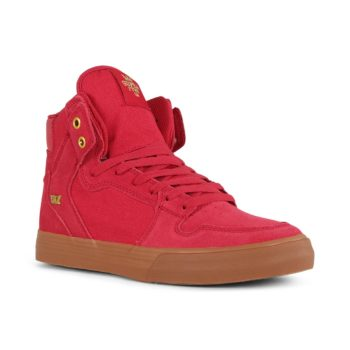 Supra Vaider High Top Shoes - Rose / Gold / Lt Gum