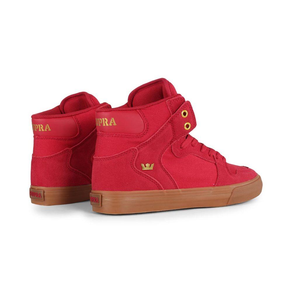 Supra Vaider High Top Shoes - Rose / Gold / Lt Gum