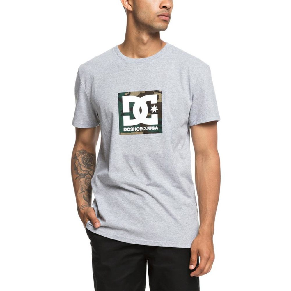 DC Shoes Camo Boxing S/S T-Shirt - Grey Heather