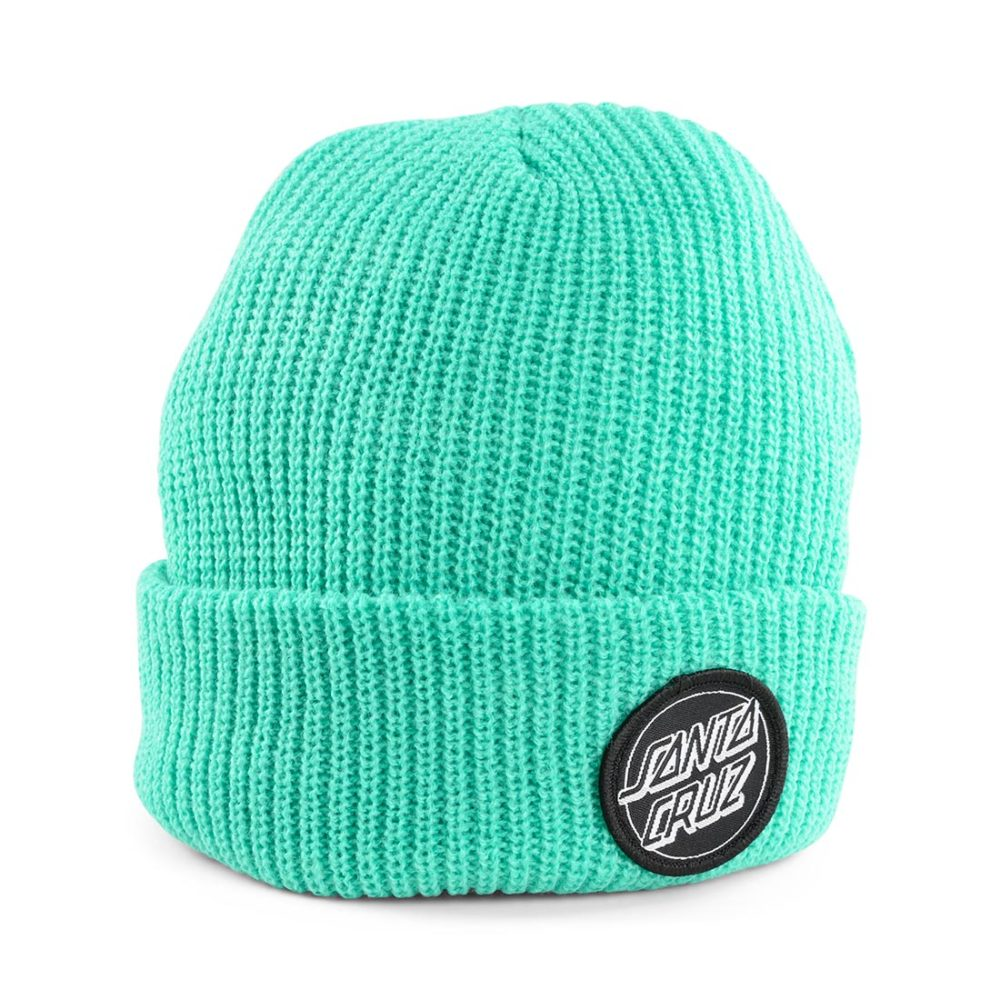 Santa Cruz Outline Dot Beanie Hat – Pool Blue