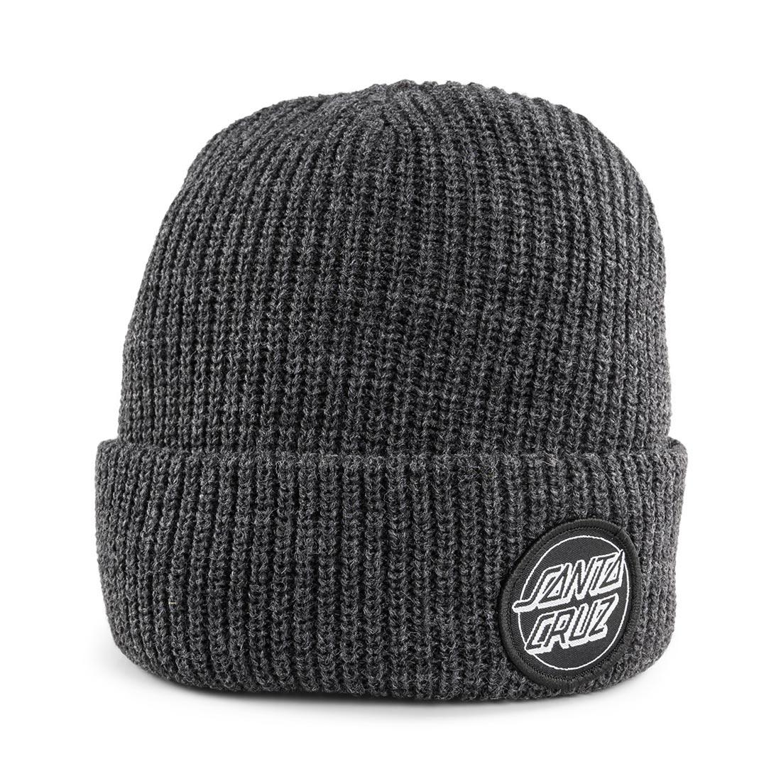 Santa Cruz Outline Dot Beanie Hat – Dark Heather