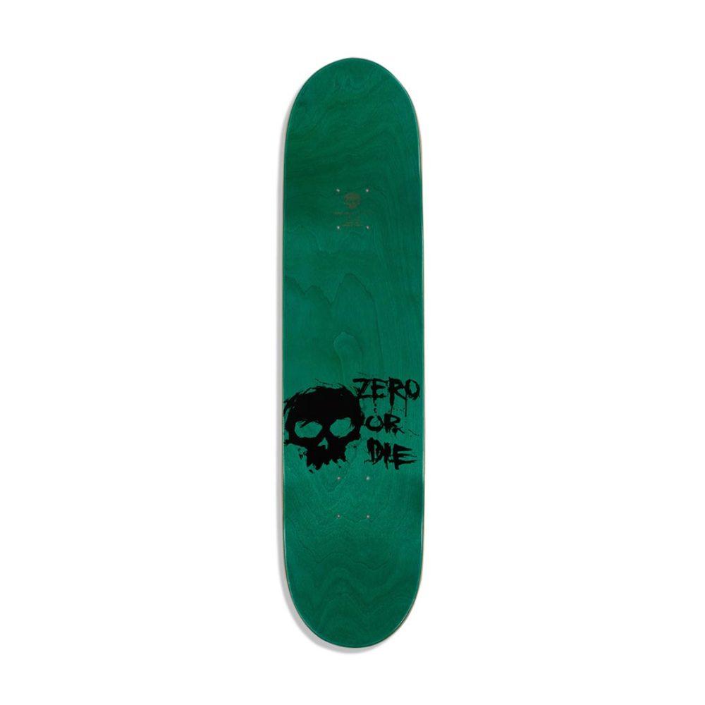 Zero Blood 8.0″ Skateboard Deck – Black / Yellow