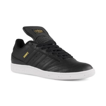 Adidas Busenitz Shoes – Core Black / Gold Metallic / White
