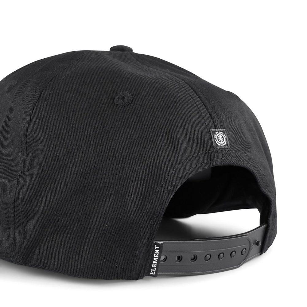 Element Knutsen Snapback Cap – Black / White