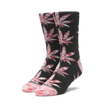 HUF Plantlife Melange Leaves Crew Socks - Black (AW19)