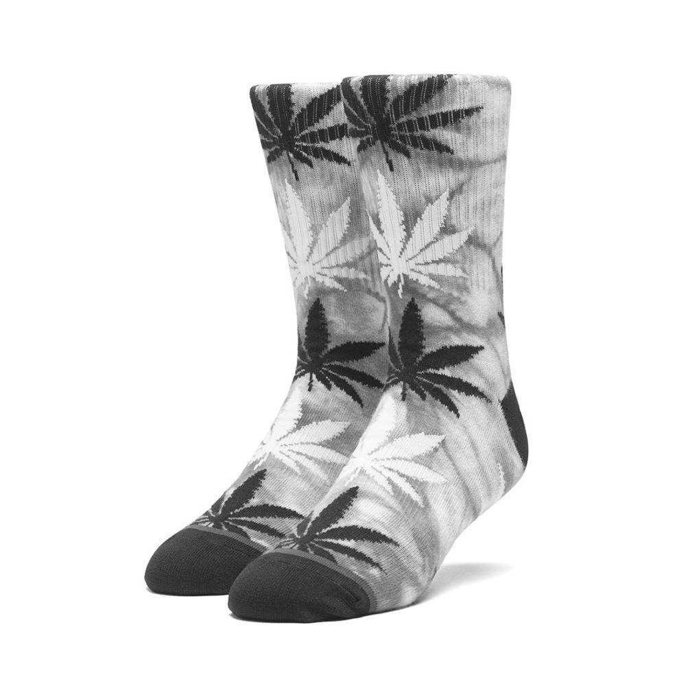 HUF Tie-Dye Plantlife Crew Socks - Black