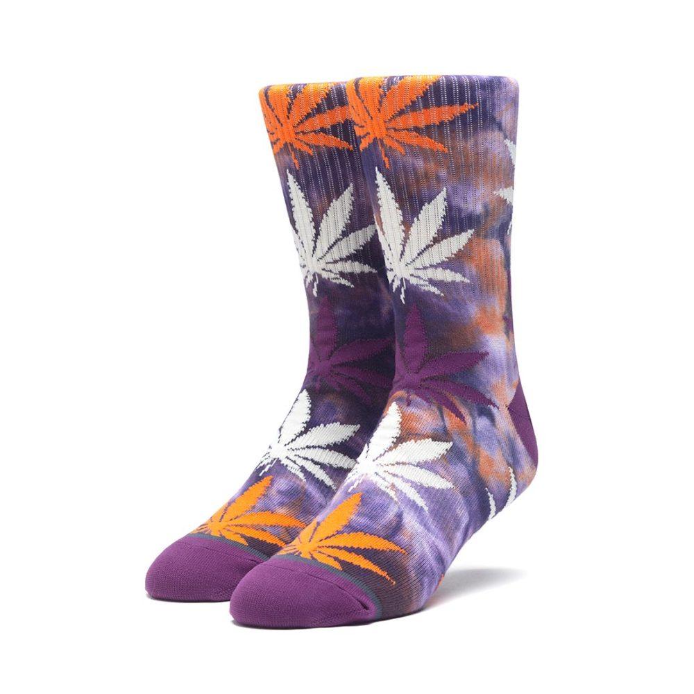 HUF Tie-Dye Plantlife Crew Socks - Rust