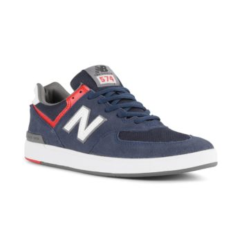 New Balance All Coasts 574 Shoes - Navy / White
