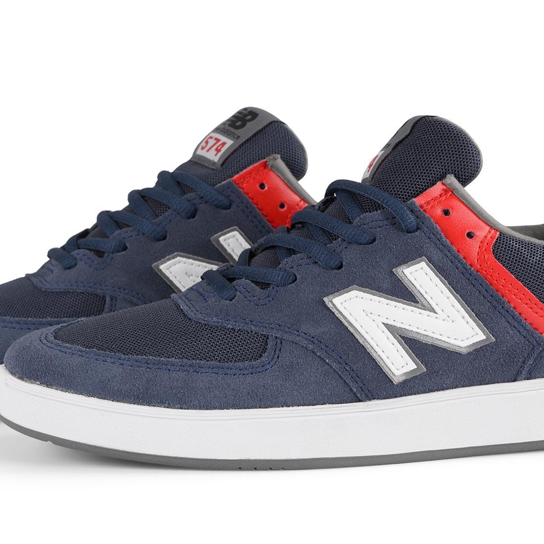 41b8f68d7bd76 New Balance All Coasts 574 Shoes - Navy / White