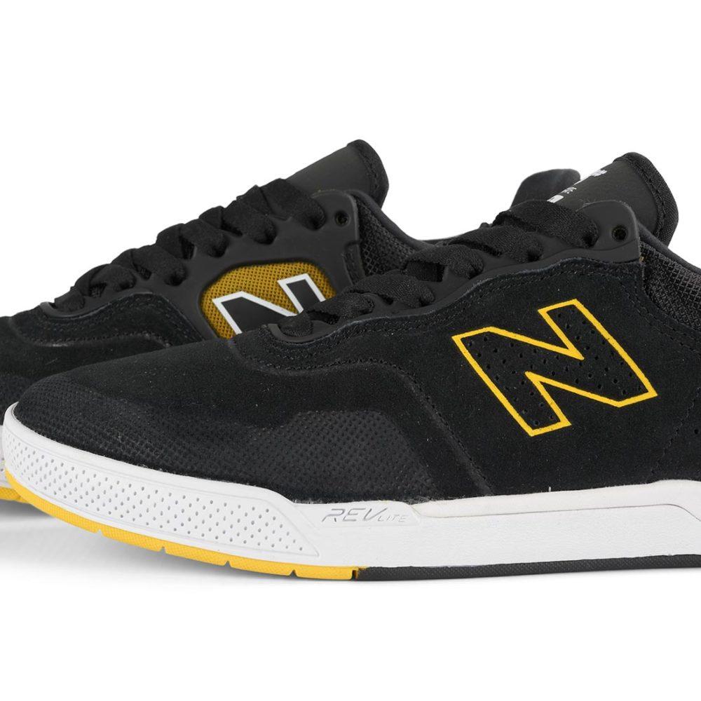 New Balance Numeric 913 Brandon Westgate Shoes - Black / Yellow
