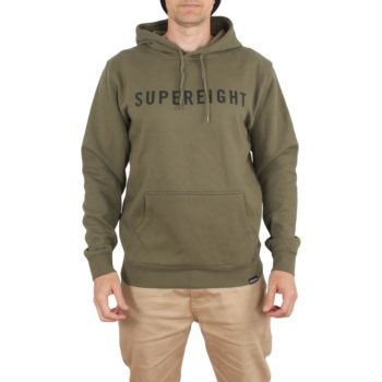 Supereight Supply Co Horizontal Pullover Hoodie – Army