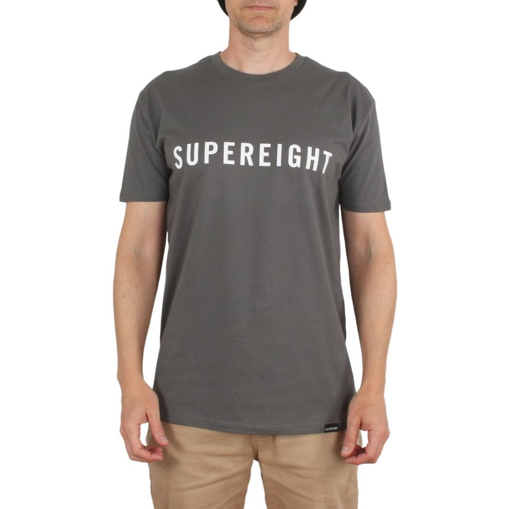 Supereight Supply Co Horizontal S/S T-Shirt – Charcoal