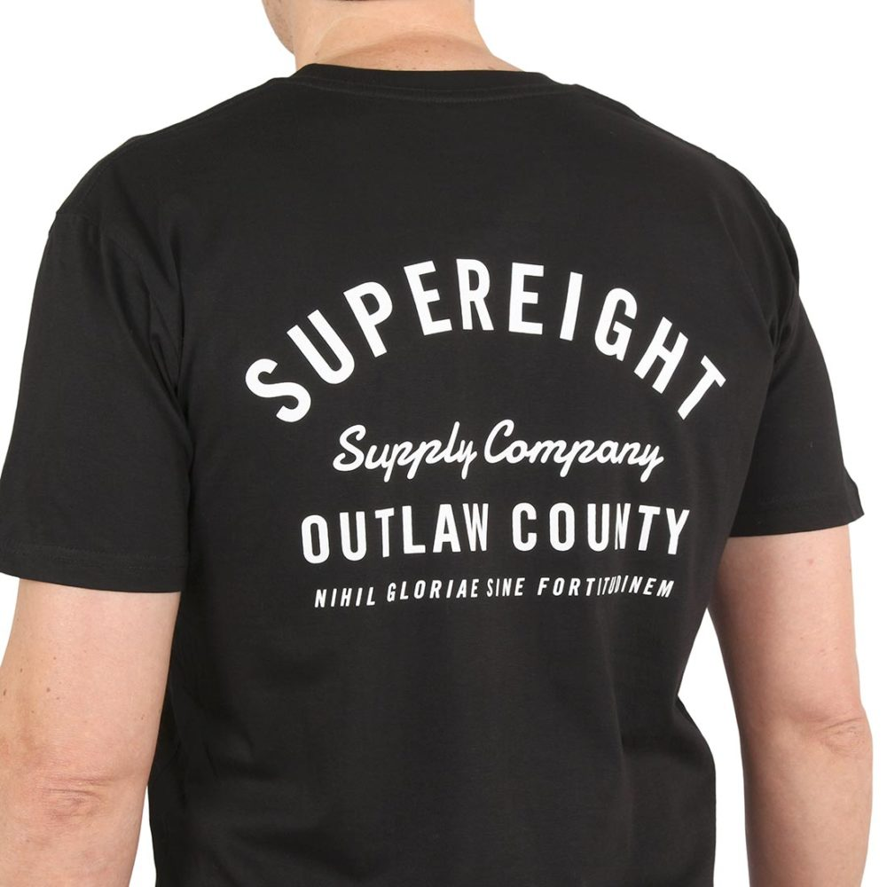 Supereight Supply Co Outlaw S/S T-Shirt – Black