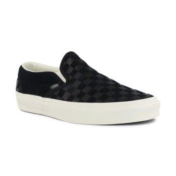 Vans Classic Slip-On Shoes – Checker Embossed Black / Marshmallow