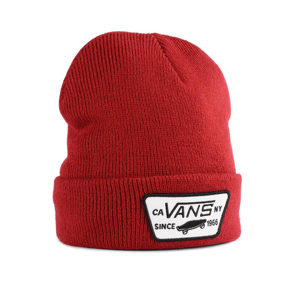 3b4b1d199 Vans Milford Cuff Beanie Hat - Biking Red