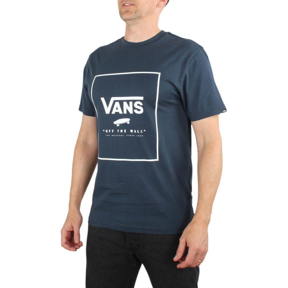 Vans Print Box S/S T-Shirt - Dress Blue / White