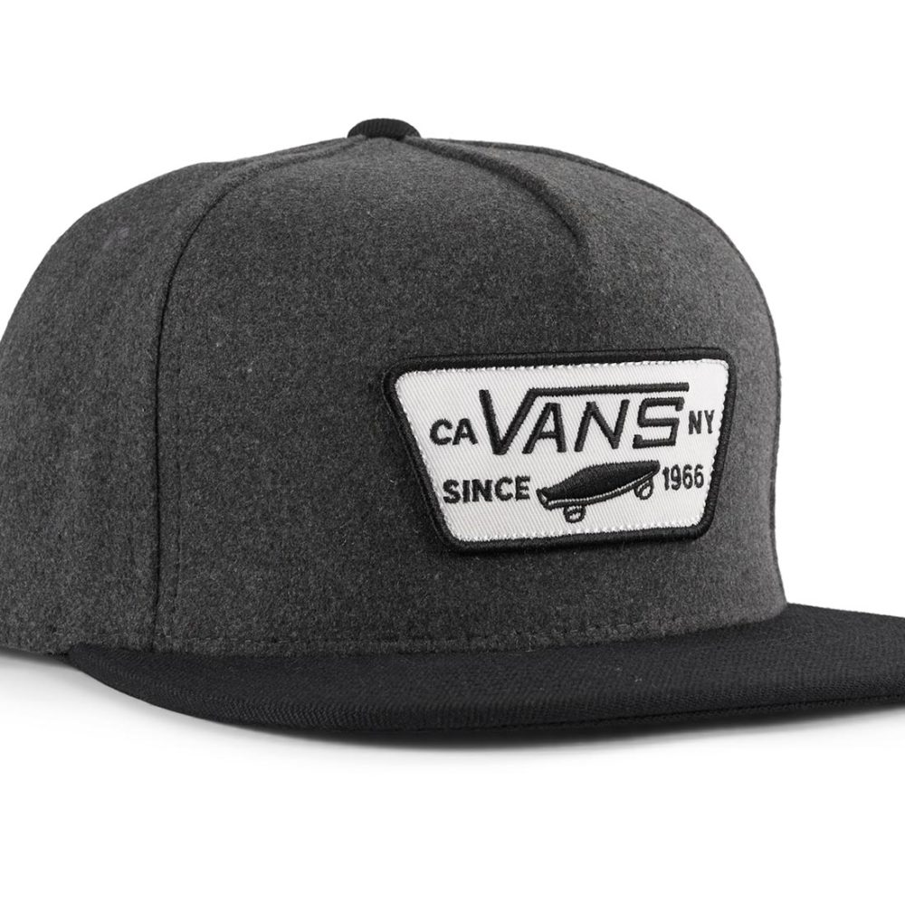 Vans Full Patch Snapback Hat - Asphalt