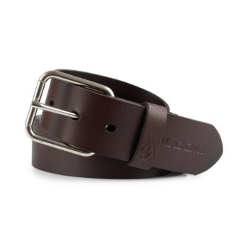 Volcom Effective Leather Belt - Brown