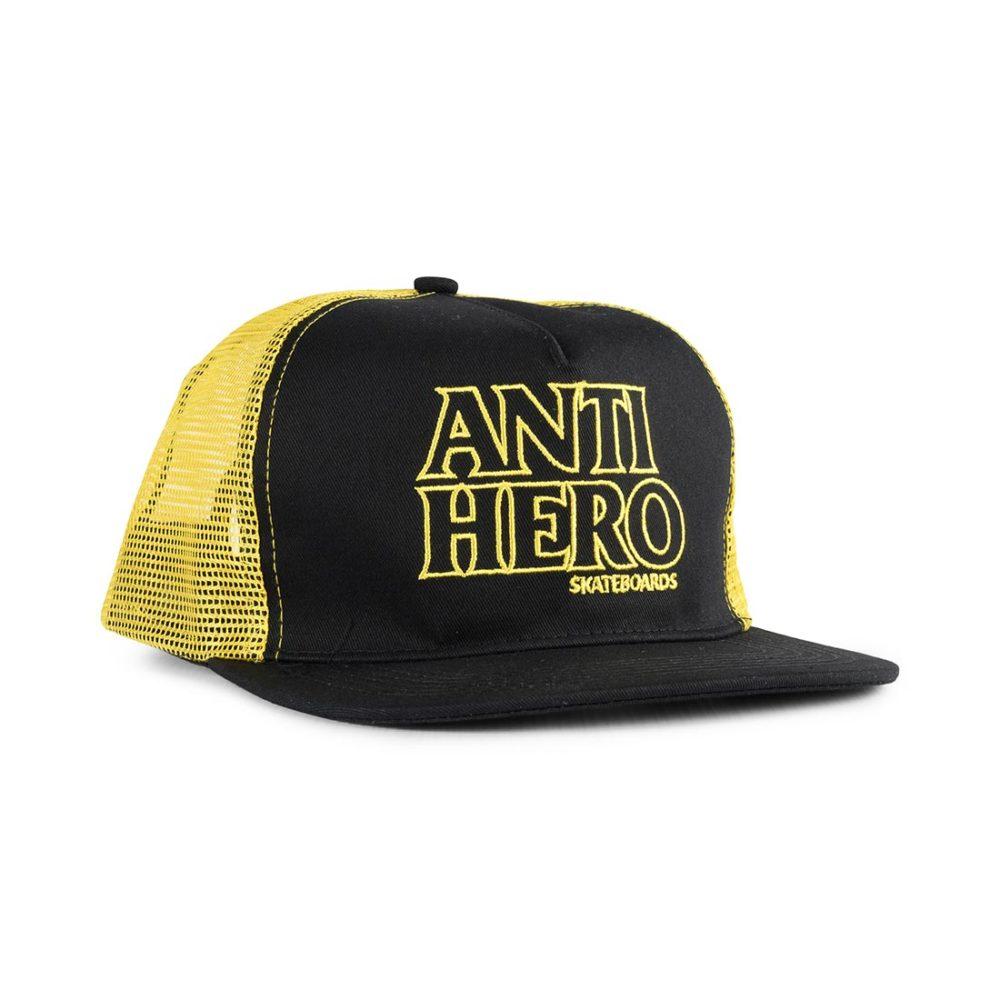 Anti Hero Black Hero Outline Mesh Back Trucker Cap - Black / Gold