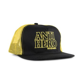 Anti Hero Black Hero Outline Mesh Back Trucker Cap - Black / Gold