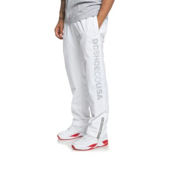 DC Shoes Skate Water-Resistant Track Bottoms White