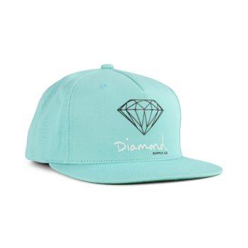 Diamond Supply Co OG Sign Snapback Diamond Blue