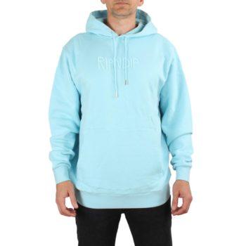 RIPNDIP Rubber Logo Pullover Hoodie - Light Blue